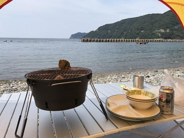 神子海水浴場BBQ