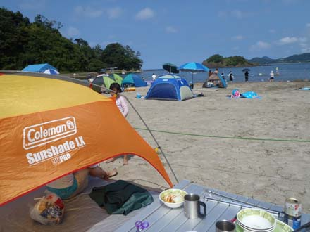 三田浜海水浴場でBBQ