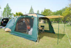 テントとタープ連結